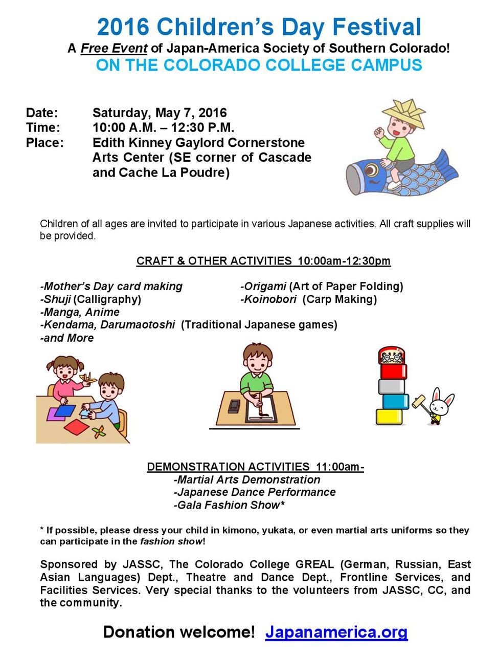 Japan America Society Of Southern Colorado Children S Day 2016